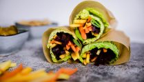 Vegane low carb Wraps