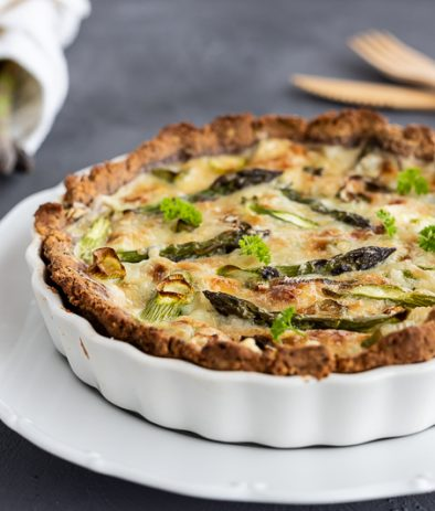 Low carb Quiche mit Spargel