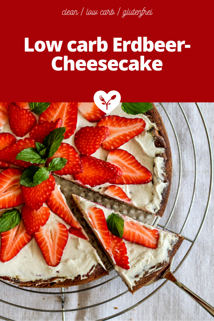 Low carb Erdbeer-Cheesecake