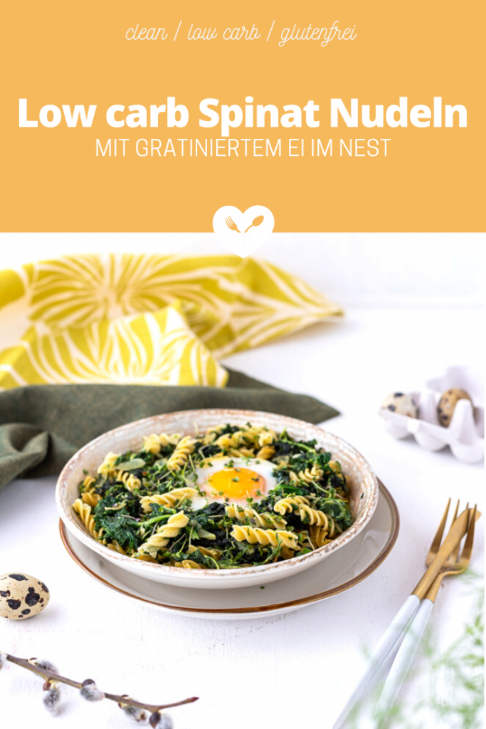 Low carb Spinat Nudeln