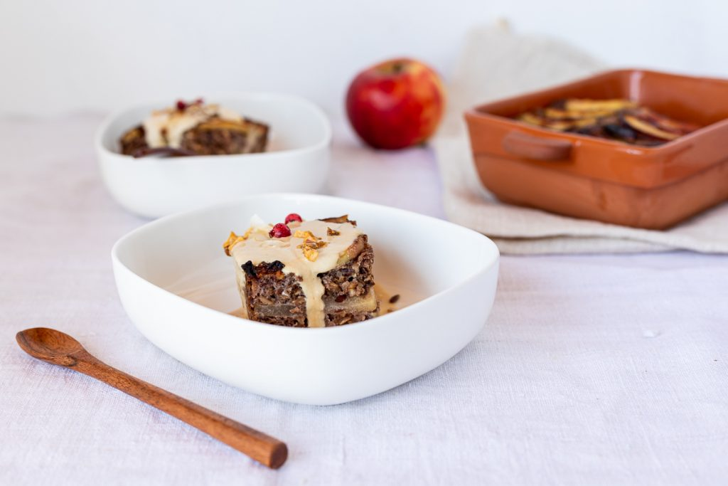 Low carb baked oatmeal mit Äpfeln