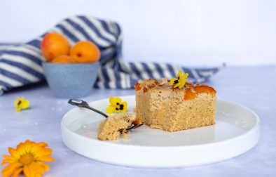 Low carb Marillen Kokos Kuchen mit Cheesecake Topping